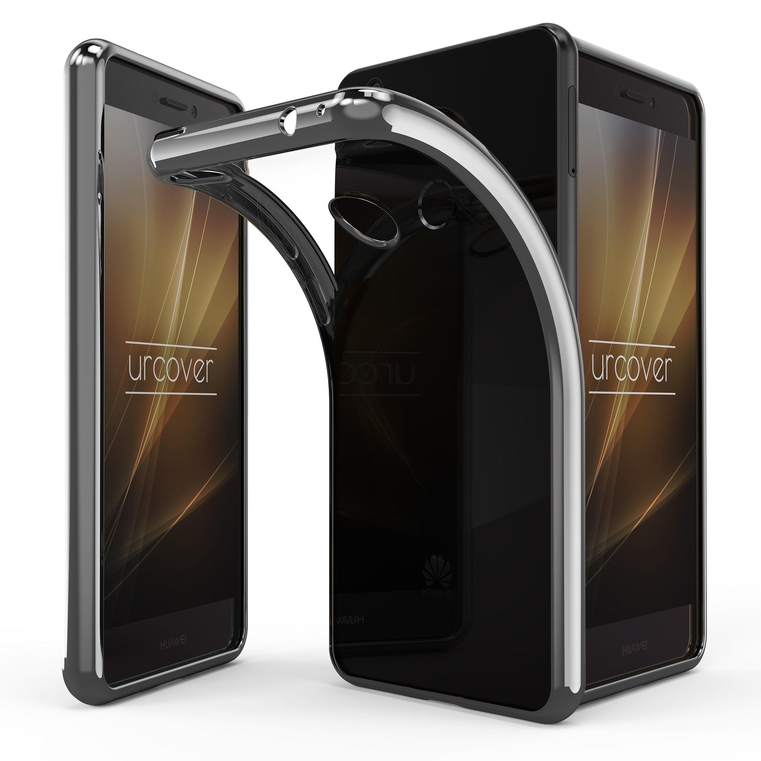 Urcover P8 Lite (2017) Funda, Carcasa Bordes Espejo en TPU Protección Smartphone Back Case Huawei P8 Lite (2017): Amazon.es: Electrónica