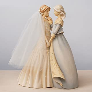 Enesco Gift Foundations Bride & Mother Stone Resin Figurine Set, 9.37