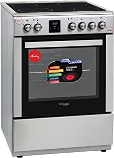 Super General Freestanding Vitro-Ceramic Electric-Cooker, Stainless-Steel Cooker, Electric Oven with Cooling Fan and LED D...