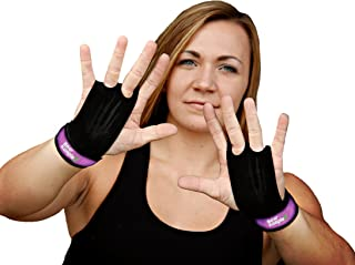 Bear KompleX 2 Hole Gymnastics Grips are Great for WODs, pullups, Weight Lifting, Chin ups, Cross Training, Exercise, Kett...