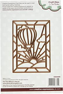 Creative Expressions CED24005 Stained Glass Collection Hot Air Balloon Die, Brown