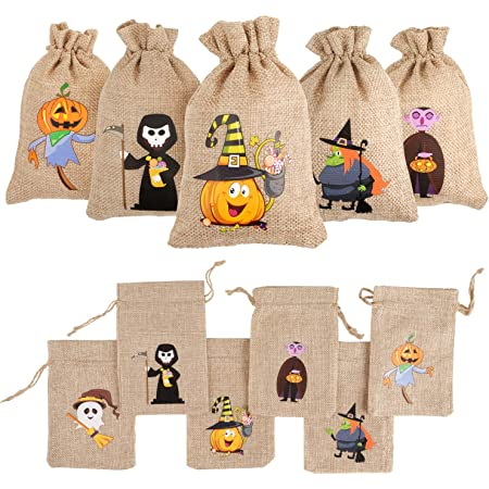 Halloween Party Favors Halloween Gag Bags W16 Halloween Favor Halloween Gift Bags Trick or Treat Rubber Stamp Witches Broom