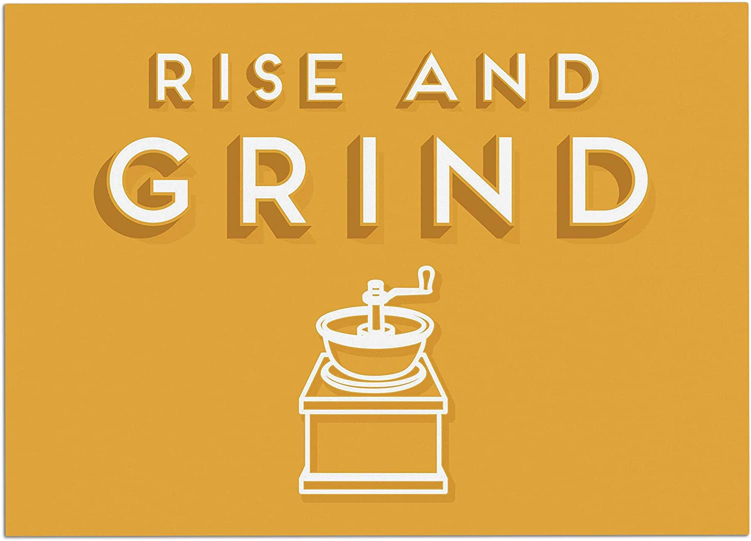 KESS InHouse BP1010ADM02 Busy Bree Rise and Grind gold Illustration Dog Place Mat, 24 x15