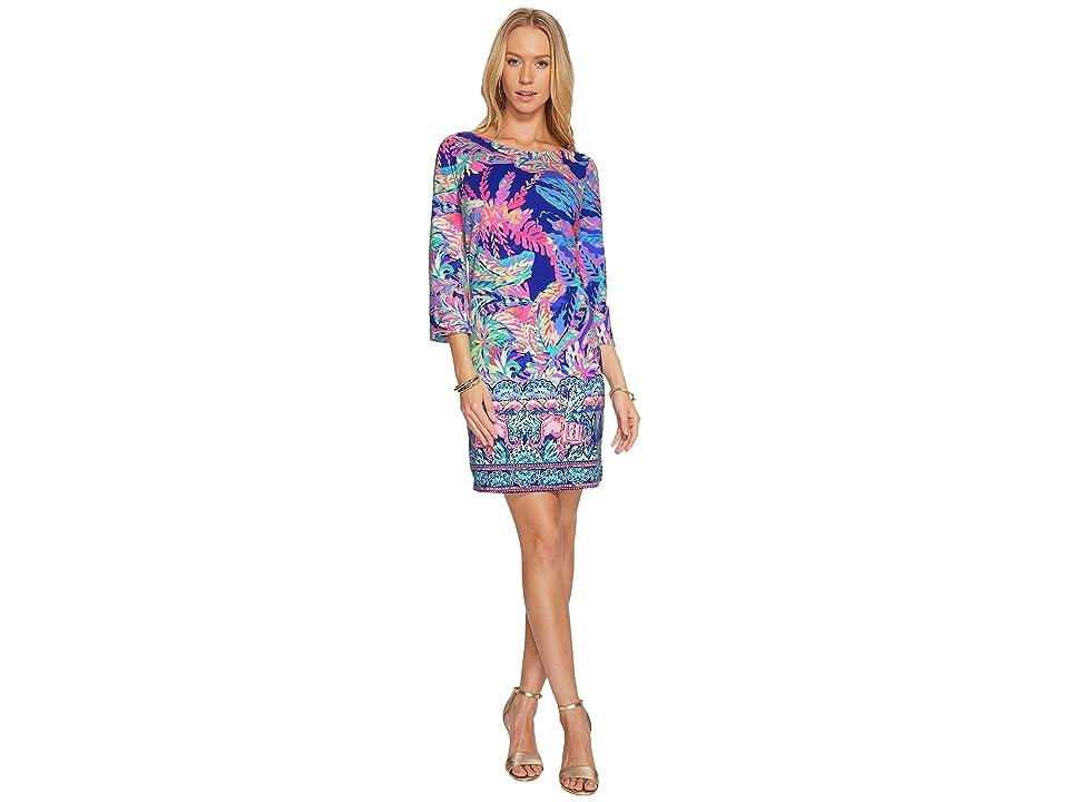 Lilly Pulitzer Bay Dress (Multi Sunset Safari Engineered Dress) Women