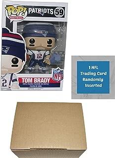 Funko Tom Brady New England Patriots Pop Vinyl Figure Bundle with 1 NFL Trading Card & 1 Cardboard Protector Box