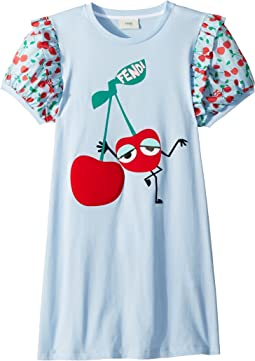 Fendi Kids - Cherry Graphic T-Shirt w/ Cherry Sleeves (Big Kids)