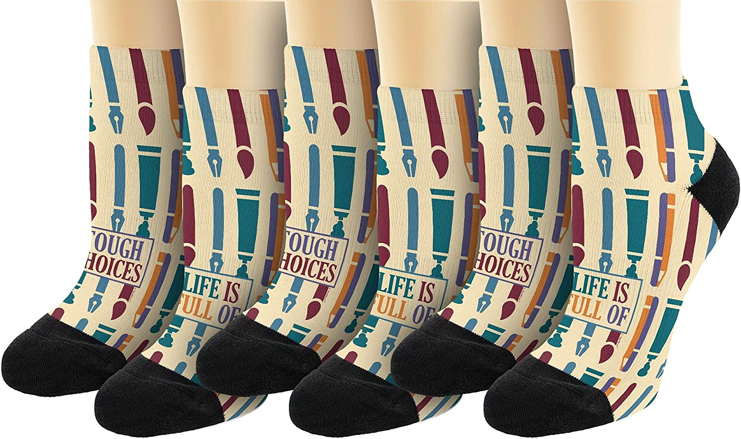Life Is Full Of Tough Choices Art Supplies Novelty Ankle Socks
