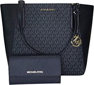 467488450a9 MICHAEL Michael Kors Kimberly Large Bonded Tote bundled with Michael Kors  Jet Set Travel Large Trifold