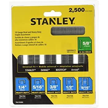 """1000 Pack Stanley Sharpshooter 9//16/"""" Heavy Duty Staples TRA709T"""