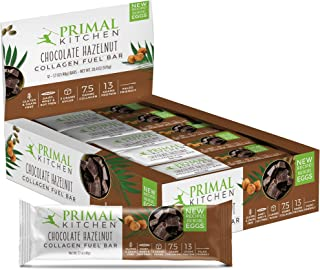 Primal Kitchen Chocolate Hazelnut Collagen Protein Bars, 1.7 oz, Pack of 12, Gluten Free, Paleo - Contains Eggs