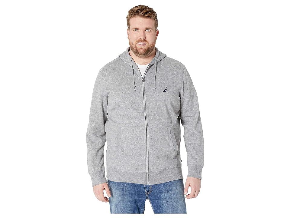 Nautica Big & Tall Big Tall Specialty Hoodie (Stone Grey Heather) Men