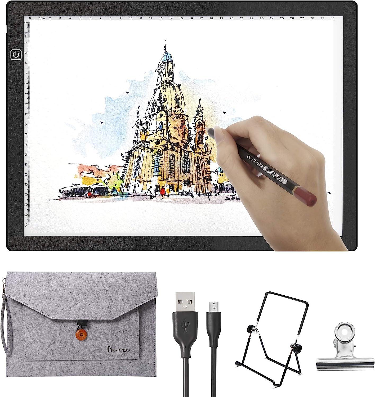 pittura design tatuaggio stencil Bacheca da disegno A4 Light Box LED Tracing Pad Copy Board Dimmerabile Light Pad per 5D Diamond Painting DIY Art Craft A4 schizzi animazione