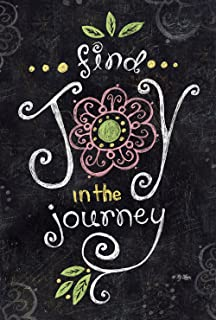 Toland Home Garden Joy in the Journey Chalkboard 28 x 40 Inch Decorative Inspirational Double Sided House Flag