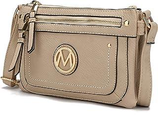 Mia K. Collection Crossbody bag for women - Removable Adjustable Strap - Vegan leather Crossover Designer messenger Purse