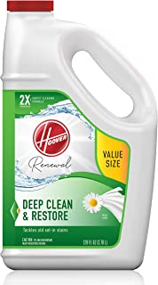 Hoover Renewal Deep Cleaning Carpet Shampoo, Concentrated Machine Cleaner Solution, 128oz Formula, AH30932, White, 128 oz
