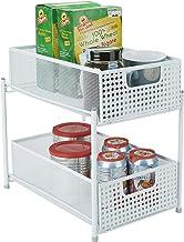 Mind Reader Cabinet, Mesh Storage Baskets Organizer, Home, Office, Kitchen, Bathroom, One Size, White 2 Tier Heavy Duty