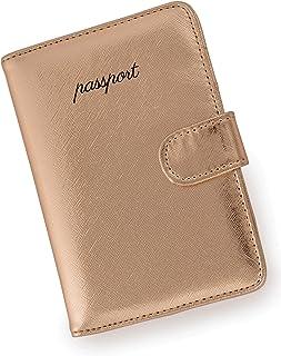 Miamica - portafolios de viaje para pasaporte, color oro rosa, Miamica Passport Case - portafolios de viaje, color dorado rosa, Rose gold, Una talla