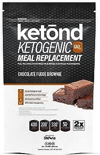 Ketond Ketogenic Meal Replacement - 30 Servings #1 Rated KETOGENIC Meal Replacement! Powered with goMCT™ (Chocolate Fudge Brownie)