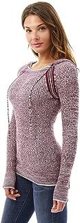 Women Marled Raglan Hoodie Sweater
