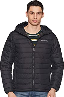 Columbia Powder Lite Hooded, Giacca Isolata Uomo, Nero (Black 01), L