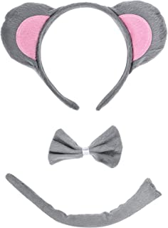 Christmas Headband Mouse Dalmatian Ears and Tail Set Kids Halloween Costume Kit