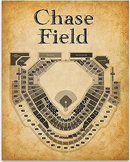 Chase Field Baseball Stadium Seating Chart - 11x14 Unframed Art Print - Great Sports Bar Decor and Gift Under $15 for Baseball Fans