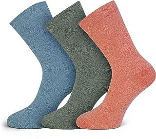 Softfabric, Calcetines de algodón para mujer, de agarre suave, con costuras suaves, 3 pares