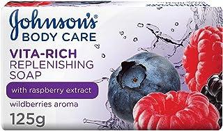 JOHNSON'S Body Soap - Vita-Rich, Replenishing Raspberry Extract, 125g