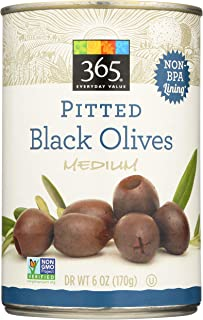 365 Everyday Value, Pitted Black Olives, Medium, 6 oz