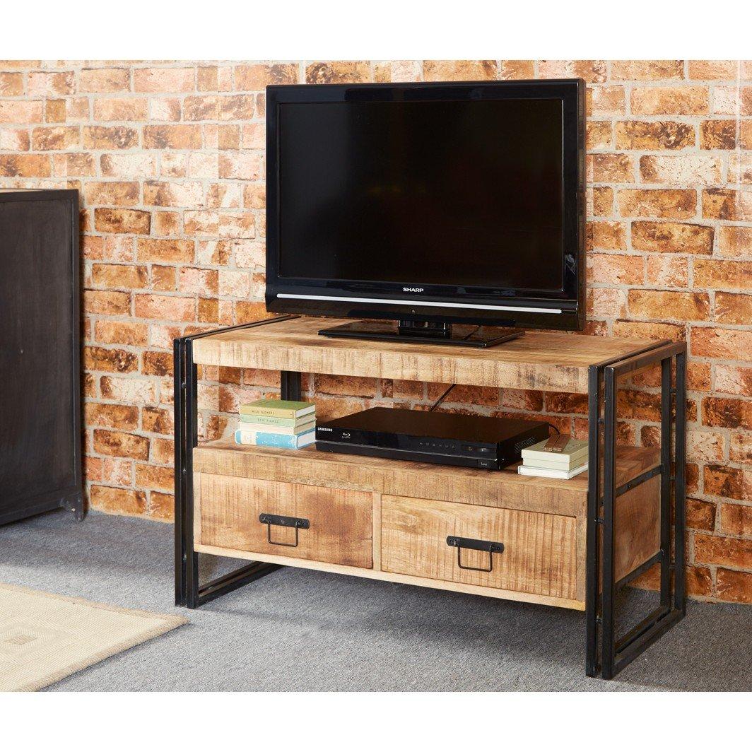 Neptune 100% reciclado muebles de madera soporte de TV/entretenimiento mesa: Amazon.es: Hogar