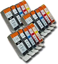 The Ink Squid 15 Chipped Compatible High-Capacity Canon PGI-525 & CLI-526 Ink Cartridges for Canon Pixma iP4850