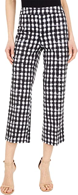 Kahlo Check Pattern 24'' Crop Trousers