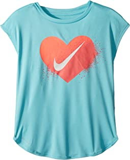 Nike Kids - Spray Heart Dri-FIT Modern Tee (Little Kids)