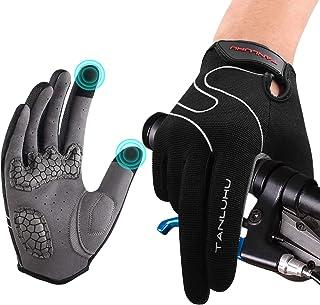 Tanluhu Men Bike Gloves Cycling Gloves Moutain Bike Gloves - Anti-Slip Shock-Absorbing Padded Breathable Half Finger Road ...