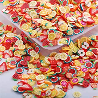 RoseFlower 10000 Pcs 3D Cute Designs Nail Art Canes Sticks Stickers Rods Fruit Pattern Slices Nail Art Stickers Perfect for DIY Crafts, Cellphone Decoration, Nail Art Decoration #1