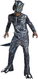 Jurassic World - Disfraz de dinosaurio Velociraptor para niños, infantil 8-10 años (Rubie's 641180-L)