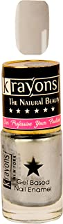 KRAYONS GEL BASE GLOSSY EFFECT NAIL POLISH ENAMEL COLOR, 6ML SAFE DRY FAST COLLECTION FOR WOMEN, TEENS, KIDS (SILVER GREY)