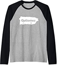 Gutierrez Last Name, Camisas de Puerto Rico Raglan Baseball Tee