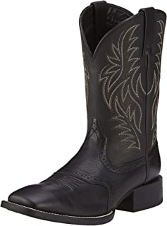 Men's Sport Western Wide Square Toe Western Boot