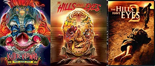 Krazy Kovers Exclusive Slip-Card Art - Killer Klowns from Outer Space - The Hills Have Eyes & The Hills Have Eyes 2 (Unrated Edition0 3-DVD Bundle