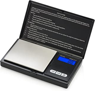 Smart Weigh SWS1KG Elite Series Digital Pocket Scale, 1000 by 0.1gm, Black