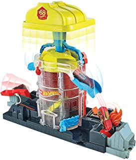 Hot Wheels Super City Fire House Rescue Play Set GJL06