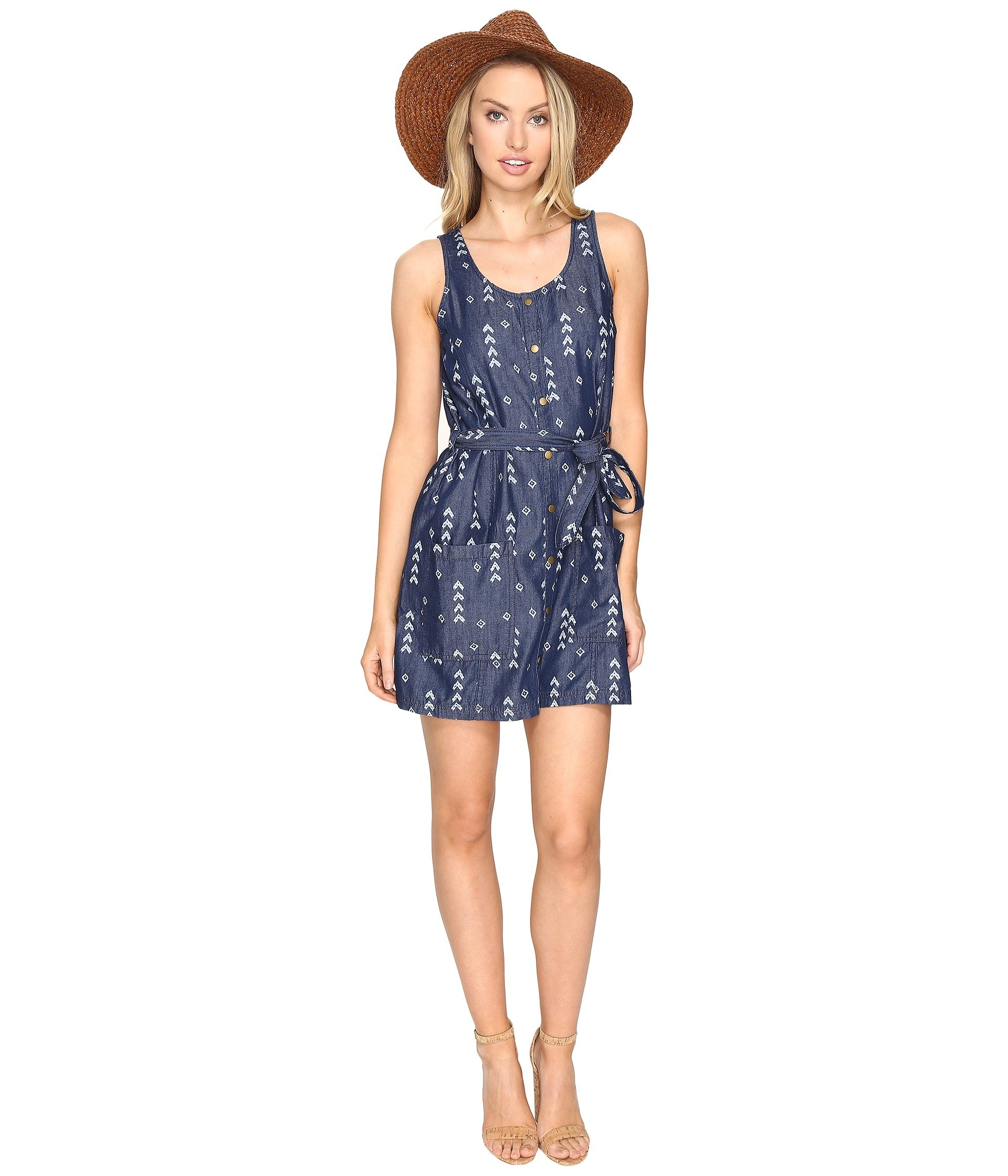 9ed3e2e2d7b4 Jack By Bb Dakota Tavon Printed Chambray Snap Front Dress In ...