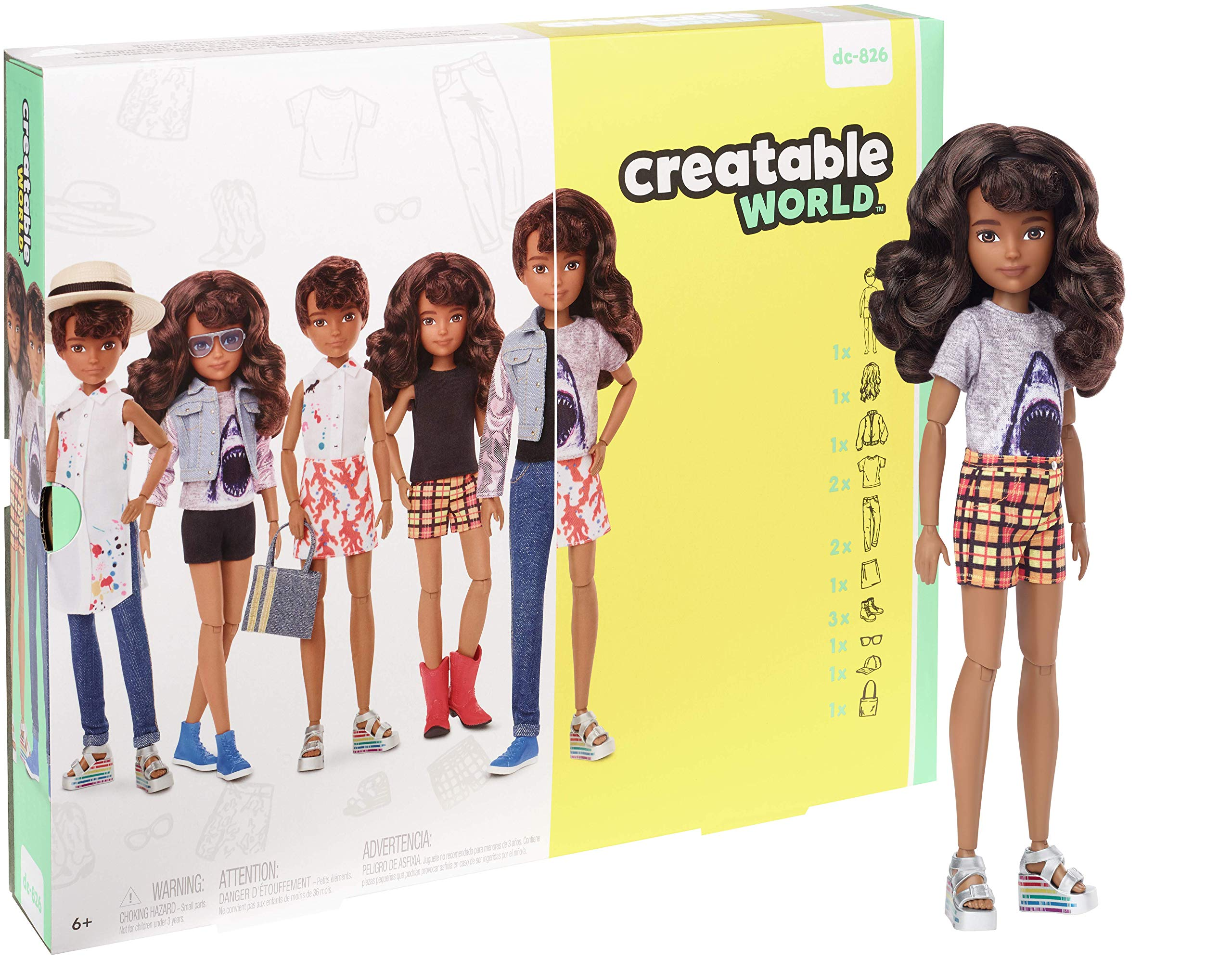 Amazon.es: Creatable World Figura Unisex, muñeco articulado ...