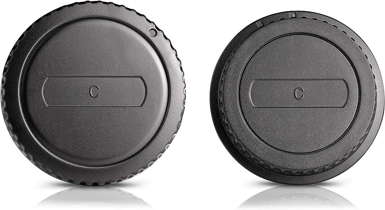 Ares Foto Tapa de la carcasa + Tapa posterior del objetivo. Cubiertas protectoras para el cuerpo de la cámara y el objetivo. Para Canon EOS 750D 760D 700D 1200D 7D 60D 650D 600D 1100D 550D IV 500D 1000D 450D