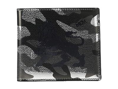 MCM Munich Lion Camo Flap Wallet/Two-Fold Small (Berlin Silver) Wallet Handbags