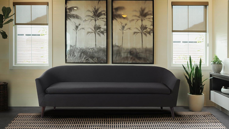 Jennifer Taylor Home Lia Jet Albuquerque Mall 2021 model Sofa Black