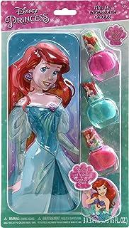 Townley Girl Disney Princess Ariel Purse with 3 Pack Nail Polish Set, 4 CT