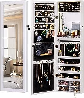 jewelry storage wall mirror