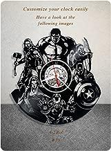 The Avengers vinyl clock, marvel's the avengers vinyl wall clock, vinyl record clock marvel comics disney iron man captain america thor loki hulk gift home decor 079 - (a2)